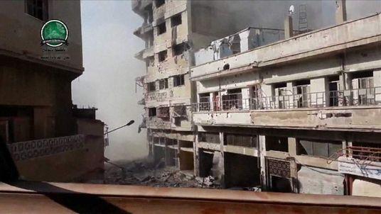 Fighting in Khaldiyeh, Syria