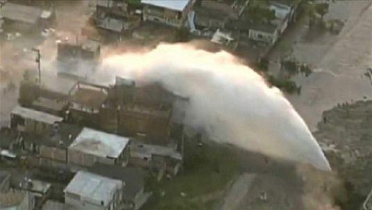 Brazil burst water main