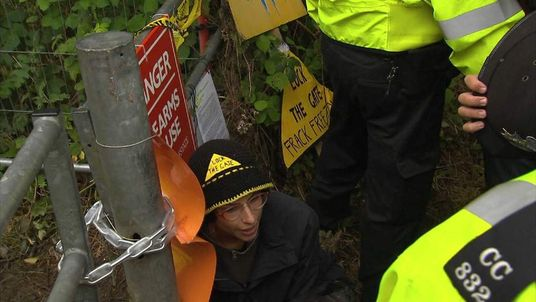 Balcombe anti fracking protest