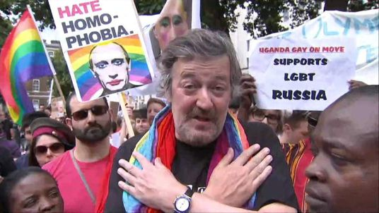 Broadcaster Stephen Fry