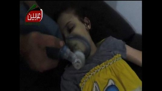 Alleged victims of poison gas attack in Syria. Images are not independently unverified