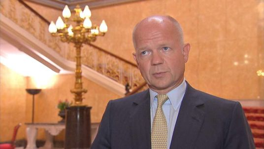 William Hague talks to Sky News about alleged chemical attack in Syria
