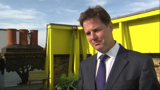 Nick Clegg talking about Commons Syria vote
