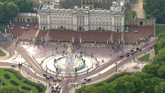 Aerial pictures of Buckingham Palace