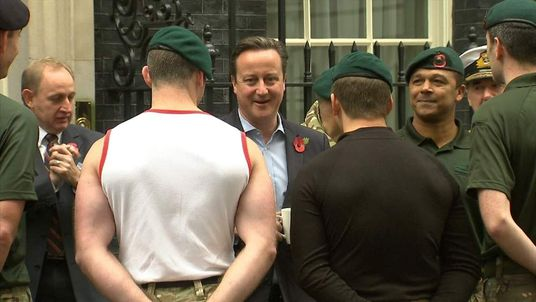 David Cameron and Royal Marines