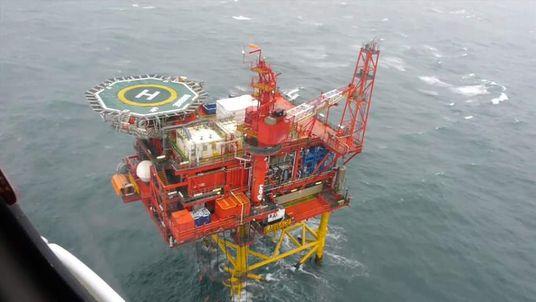 Babbage gas platform in the North Sea