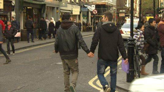 A couple in London