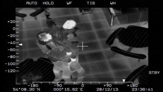 A image from an RAF thermal imaging camera