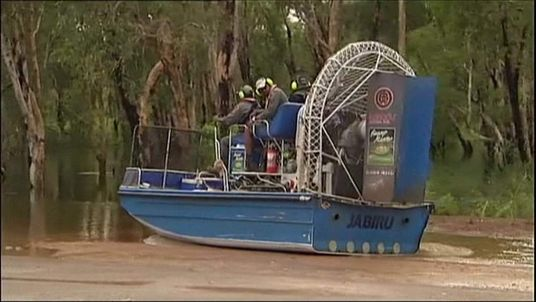Search teams hunt for a missing 12-year-old boy who was taken by a crocodile.