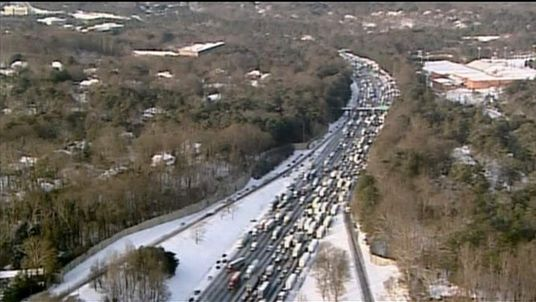 Motorists stranded in Alabama during icy weather