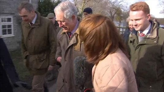 Sky's Kay Burley attempts to get Prince Charles' reaction to the devastating Somerset floods