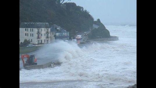 Bad weather Seaton Cornwall