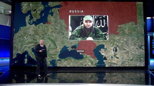 Lisa Holland with Sochi terror threat graphic