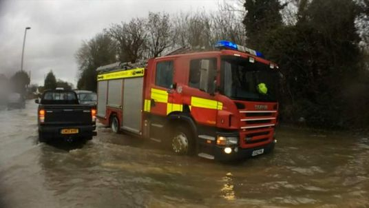 Fire Engine in Chertsey Surrey