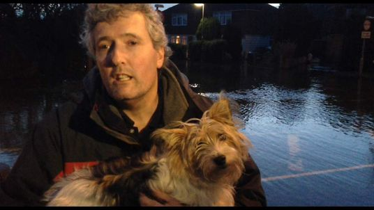 Mabel the dog evacuated from Staines