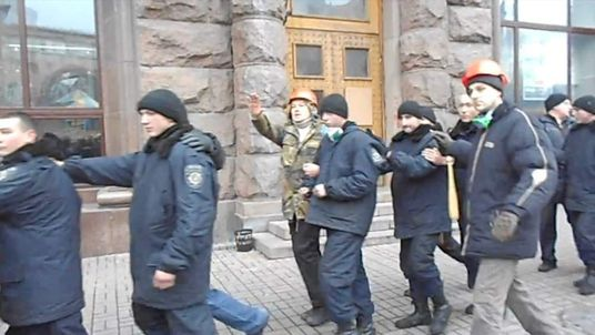 Ukraine police detained