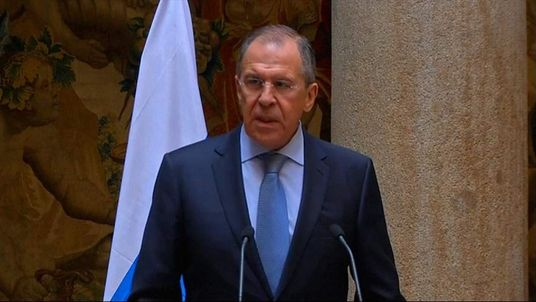 Russian Foreign Minister Sergei Lavrov speaks about the crisis in Ukraine