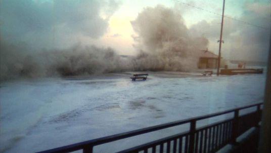 Storm damage in Aberystwyth
