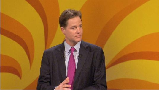 Nick Clegg addresses the 2014 Liberal Democrats Spring Conference.