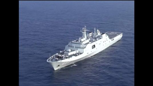 China navy ship searching for the missing Malaysia Airlines plane