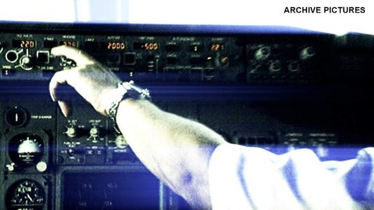 A plane cockpit