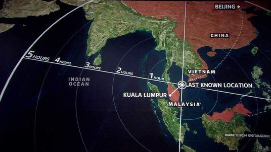 Malaysia plane search zone