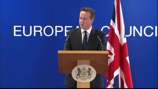 David Cameron speaks about Crimea