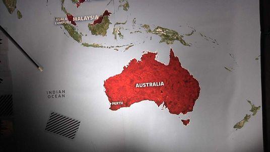 Malaysia plane search map