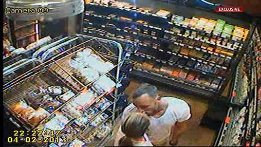 CCTV of Reeva Steenkamp and Oscar Pistorius
