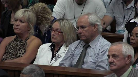 June Steenkamp listens in court