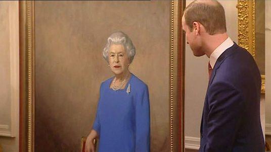 William unveils Queen portrait
