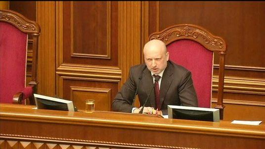 Ukraine's Acting President, Oleksandr Turchinov