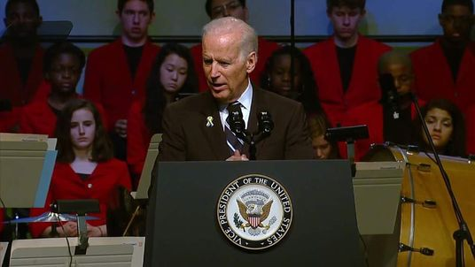Vice President Joe Biden Speaks At The Anniversary Of The Boston Bombings