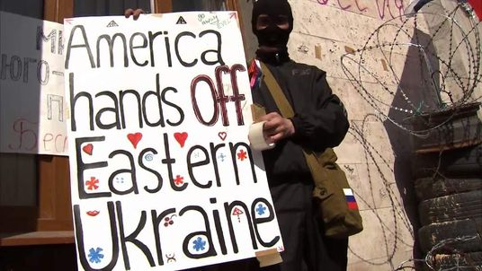 Pro-Russian protesters refuse to abandon their occupation of civic buildings in the Ukrainian city of Donetsk.