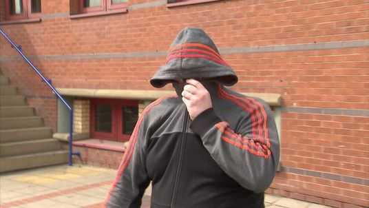 050514 Robert Reily outside leeds magistrates after pleading guilty to twitter abuse over teacher Ann Maguire murder