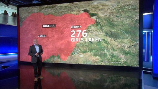 Sky's Sam Kiley explains the geography of the area where the girls were taken