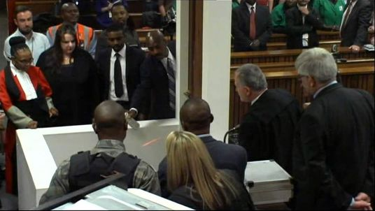 Lasers are used to reconstruct the moment Reeva Steenkamp was shot