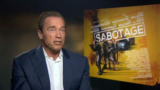 Arnold Schwarzenegger talks about his new film Sabotage
