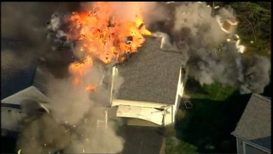 New Hampshire House Explodes During Fire