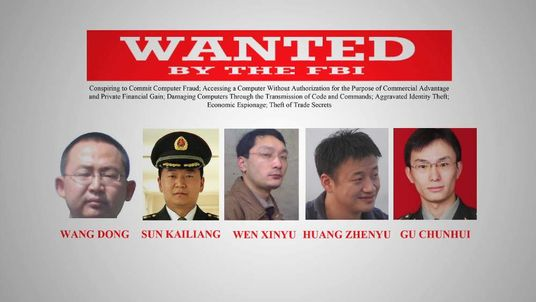 Chinese cyber spying suspects