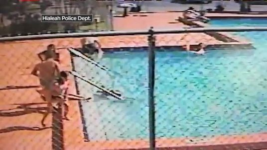 Two children suffer electric shocks while swimming in a Miami pool