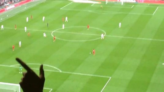 Paper aeroplane England football match
