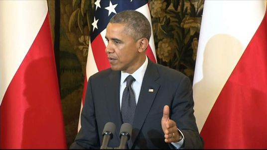 Obama Press Conference In Poland