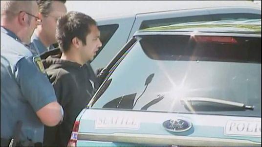 Seattle shooting suspect Aaron Ybarra with police