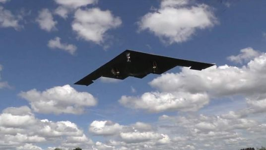 USAF B-2 Stealth Bombers arrive at RAF Fairford. Pic: Ben Ramsay