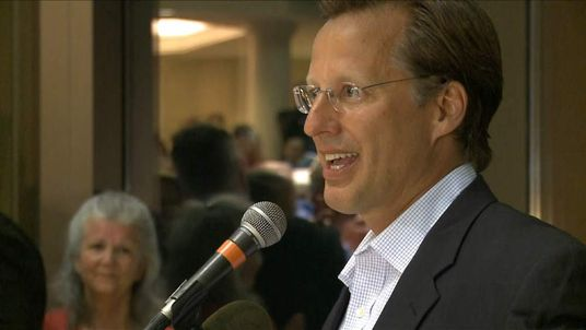 Tea Party candidate Dave Brat addresses supporters