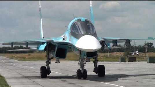 Russian SU-34 Fighter-bombers deployed to Rostov region