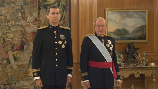 Spain new king swearing in