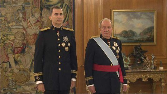 Spain new king swearing in