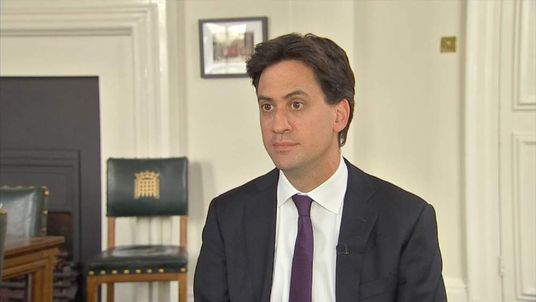 Labour leader Ed Miliband reacts to David Cameron's apology